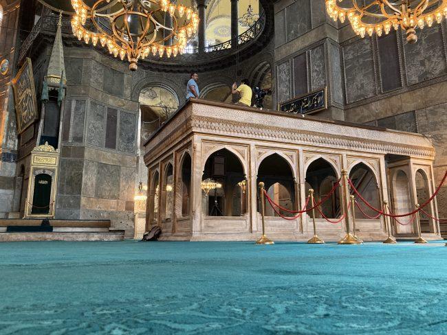 Hagia Sophia's carpet woven by Özkul Halı
